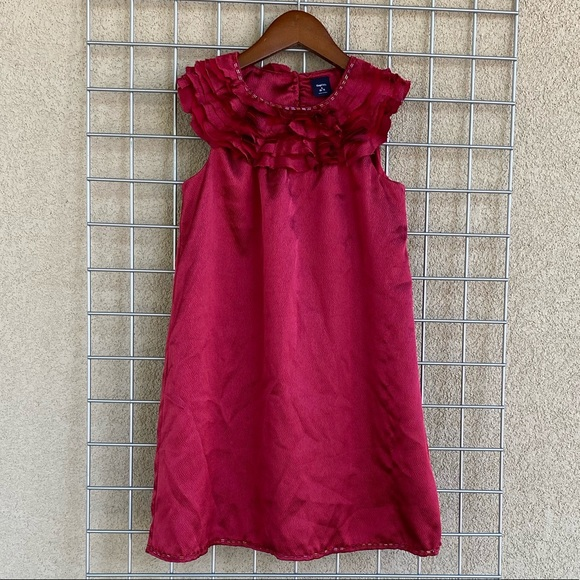GAP Other - Girl's Ruby Red Ruffle Embellished Neckline Dress